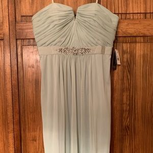 NWT Adrianna Papell Strapless Mint Green Dress!